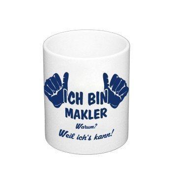 Kaffeebecher - Ich bin Makler
