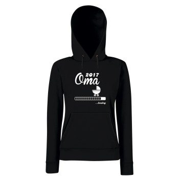 Oma Loading 2017 - Damen Hoodie - XS-L - mit Kapuze und Kängurutasche - schwarz - grau - pink - schneller Versand in 24 Stunden