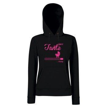 Tante Loading 2017 - Damen Hoodie - mit Kapuze und Kängurutasche - XS-L - pink - grau - schwarz - schneller Versand in 24 Stunden