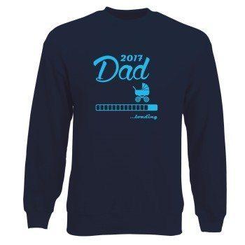 Dad loading 2017 - Herren Sweatshirt - grau - oliv - schwarz - dunkelblau - schneller Versand in 24 Stunden - Familienzuwachs