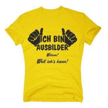 Ich bin Ausbilder, weil ich's kann - Herren T-Shirt - Lehrling Auszubildender