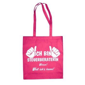 Ich bin Steuerberaterin - Baumwolltasche Jutebeutel - pink
