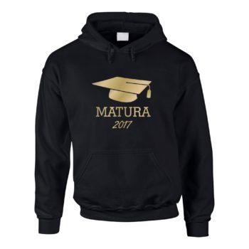 Matura 2017 - Herren Hoodie mit Doktorhut - schwarz-gold