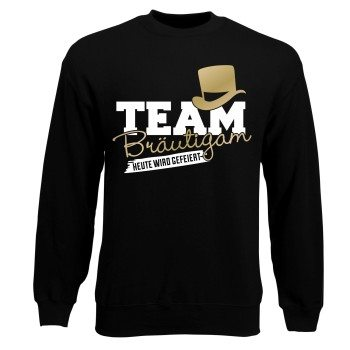 JGA Herren Sweatshirt - Team Bräutigam, heute wird gefeiert