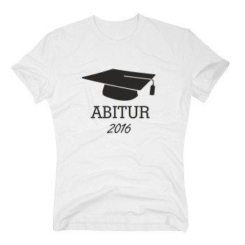 abitur t-shirt herren 2016 weiß