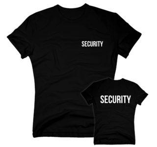 Security Shirt Herren - kleiner Brustdruck - beidseitig SECURITY