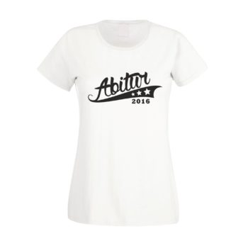 Abitur Geschenk - Damen T-Shirt - Abitur 2016 - mit Sternen