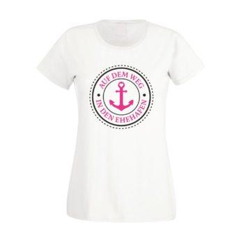 Damen T-Shirt - Auf dem Weg in den Ehehafen