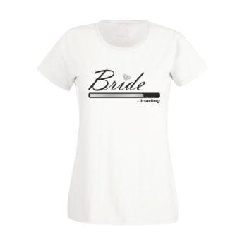 T-Shirt Druck JGA - Bride loading - Damen T-Shirt