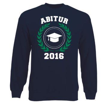 Herren Sweatshirt - Abitur 2016 Wappen