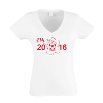 EM 2016 Damen T-Shirt V-Neck - Vive la Difference