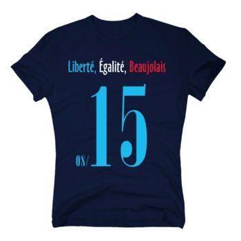 EM 2016 Herren T-Shirt - Liberté, Égalité, Beaujolais