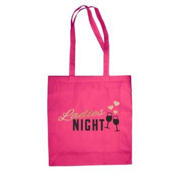 Baumwolltasche - Ladies Night mit Weingläsern und Herz