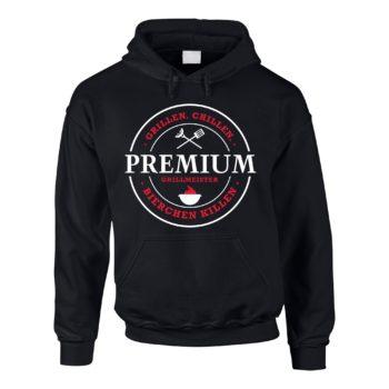 Herren Hoodie Premium Grillmeister - grillen, chillen