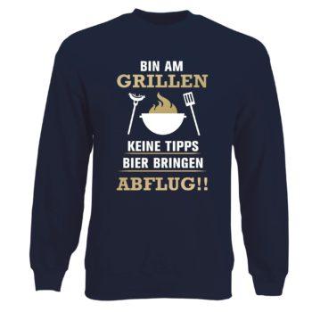 Herren Sweatshirt - Bin am Grillen
