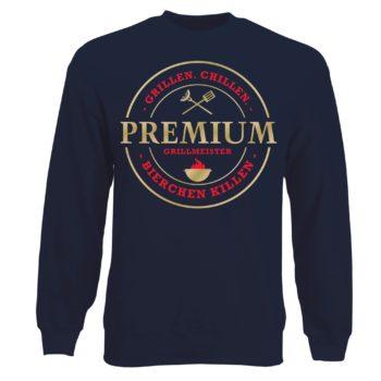 Herren Sweatshirt Premium Grillmeister - grillen, chillen