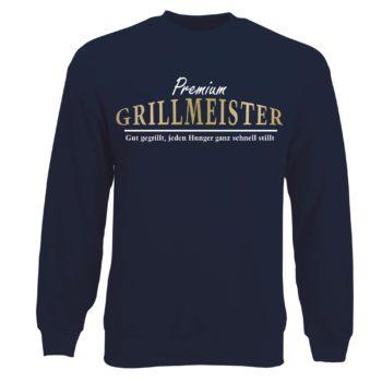 Herren Sweatshirt Premium Grillmeister - Gut gegrillt