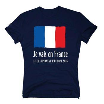 EM Herren T-Shirt - Je vais en France - Au championnat d'Europe 2016