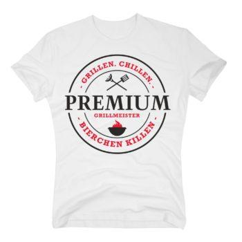 Herren T-Shirt Premium Grillmeister - grillen, chillen