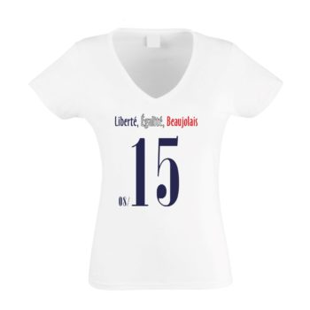EURO 2016 Damen T-Shirt V-Neck - Liberté, Égalité, Beaujolais