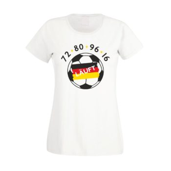 EM 2016 Damen Fan T-Shirt - läuft 72, 80, 96, 16