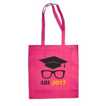 Baumwolltasche - Abitur 2017 mit Doktorhut und Brille