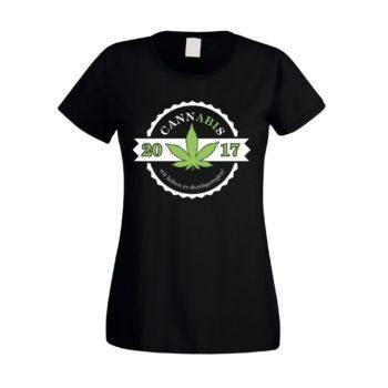 Damen T-Shirt - Cannabis - wir haben es durchgezogen - Abitur 2017