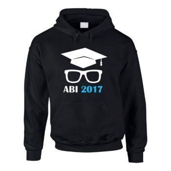 Herren Hoodie - Abitur 2017 mit Doktorhut und Brille