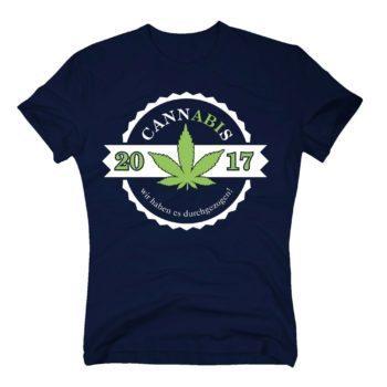 Cannabis - wir haben es durchgezogen - Abitur 2017 - Herren T-Shirt