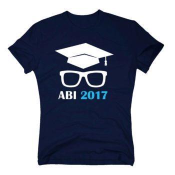 Herren T-Shirt - Abitur 2017 mit Doktorhut und Brille