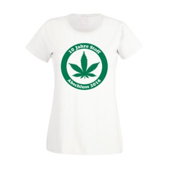 Damen T-Shirt - 10 Jahre Stoff - Abitur 2016