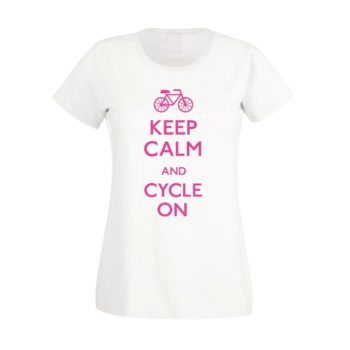 Damen T-Shirt - keep calm and cycle on