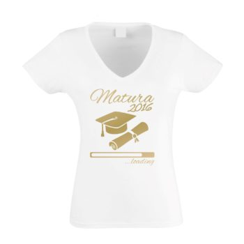 Damen T-Shirt V-Neck - Matura 2016 ...loading