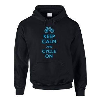 Herren Hoodie - Keep calm and cycle on