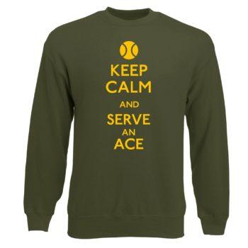 Herren Sweatshirt Tennis - Keep calm and serve an ace