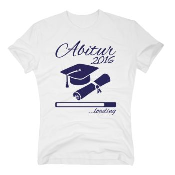 Herren T-Shirt - Abitur 2016 loading mit Doktorhut
