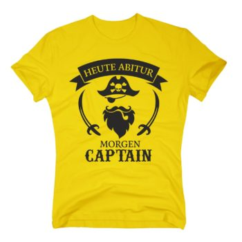 Heute Abitur - Morgen Captain - Herren T-Shirt