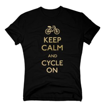 Herren T-Shirt - Keep calm and cycle