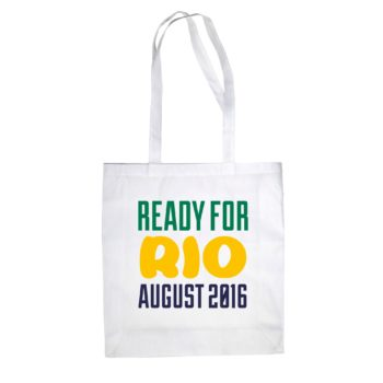 Jutebeutel Baumwolltasche - Ready for Rio - August 2016