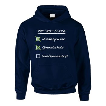 Kinder Hoodie - To do Liste für Schulkinder