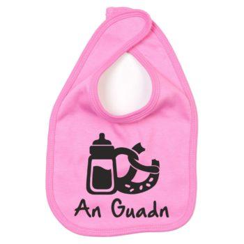 Baby Lätzchen An Guadn pink-schwarz