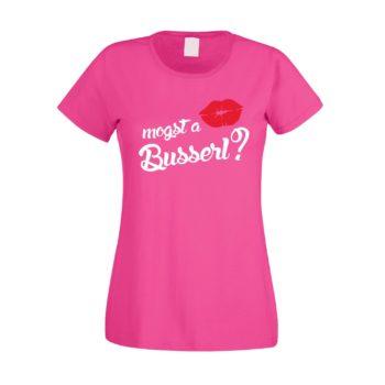 Damen T-Shirt - Mogst a Busserl?