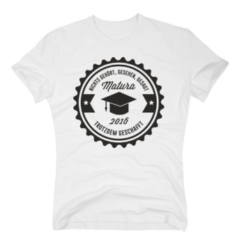 Herren T-Shirt - Matura 2016 - nichts gehört, gesehen, gesagt