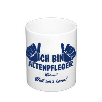 Geschenk für Altenpfleger - Kaffeebecher - Ich bin Altenpfleger