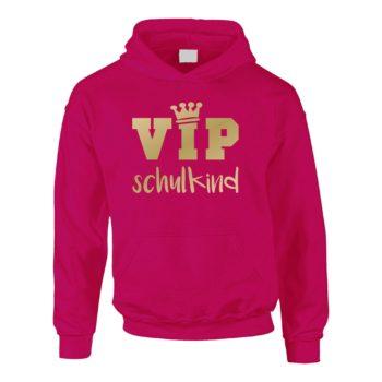 Kinder Hoodie - VIP Schulkind pink
