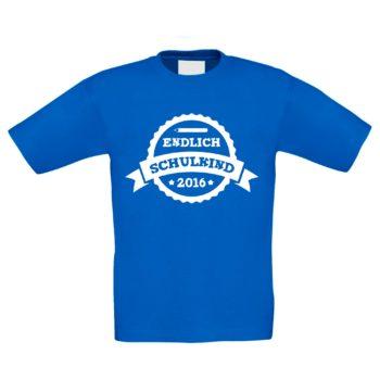 Kinder T-Shirt - Endlich Schulkind - 2016