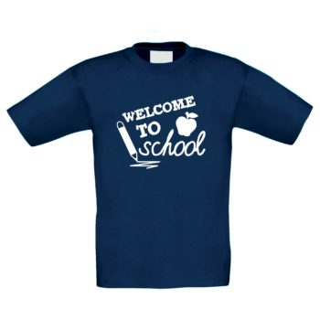 Kinder T-Shirt - Welcome to school - mit Apfel