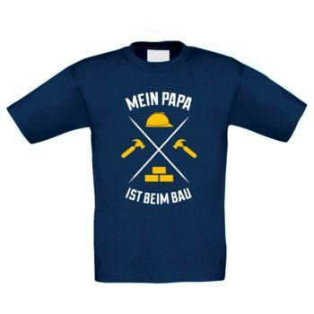 Kinder T-Shirt - Mein Papa ist beim Bau
