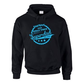 Geschenke für Väter - Herren Hoodie - The one and only true Superdad