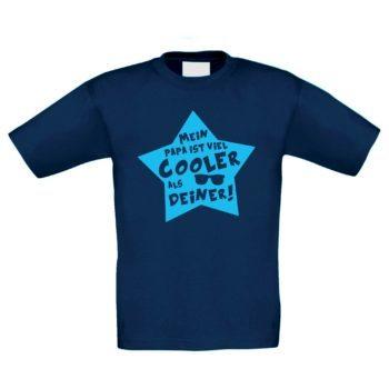Kinder T-Shirt - Mein Papa ist viel cooler als deiner